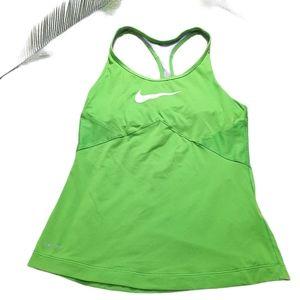 Nike Dri-Fit Green Racerback Tank Size S